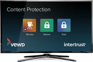 Image of TV with content protection options