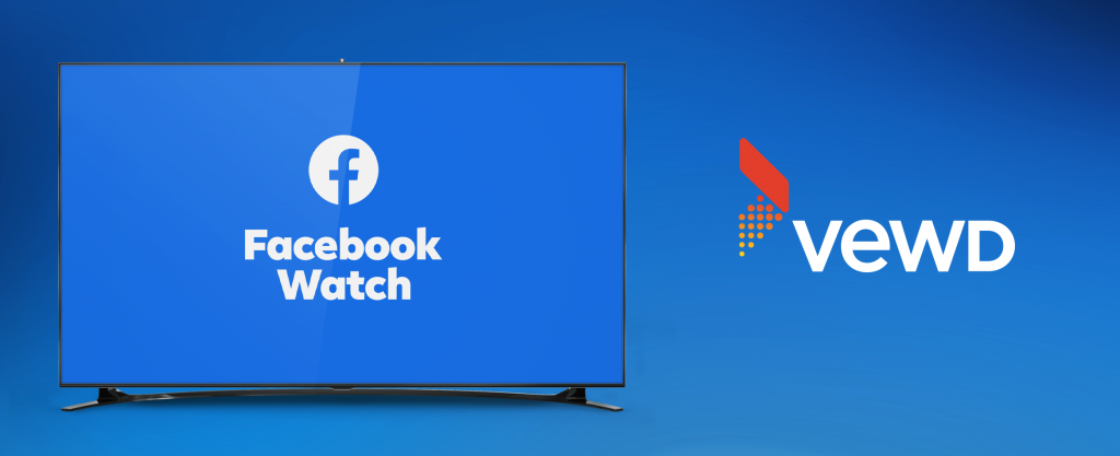 Facebook Watch TV App logo next to a Vewd logo